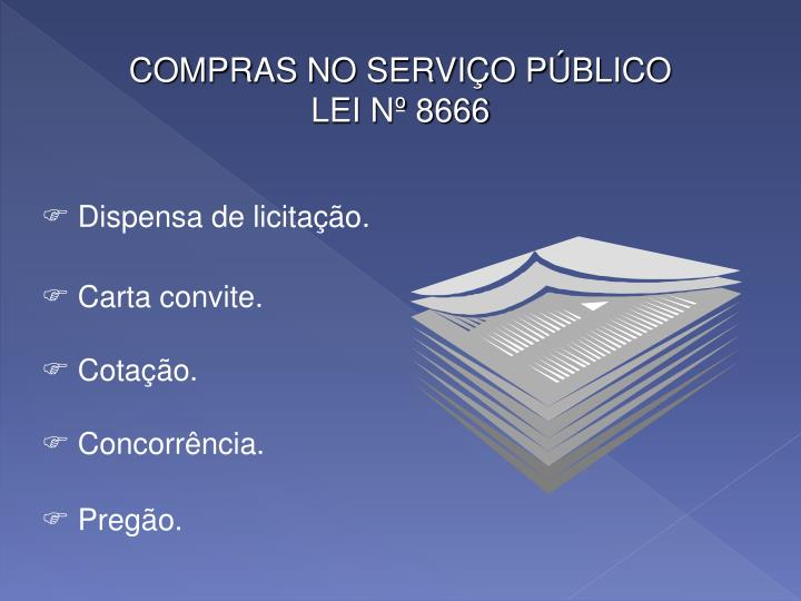 COMPRAS NO SERVIÇO PÚBLICO