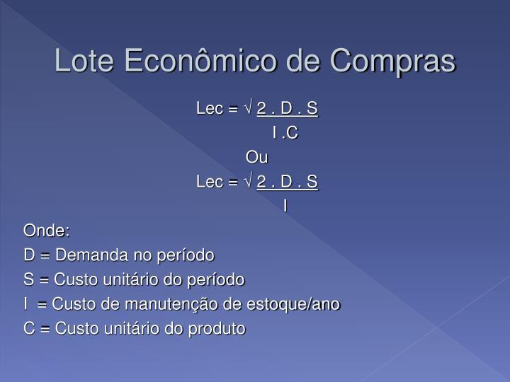Lote Econômico de Compras