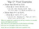 big o proof examples