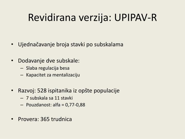 Revidirana verzija: UPIPAV-R