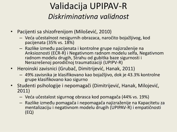 Validacija UPIPAV-R