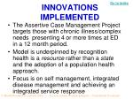 innovations implemented1