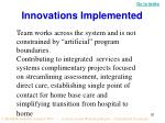 innovations implemented2