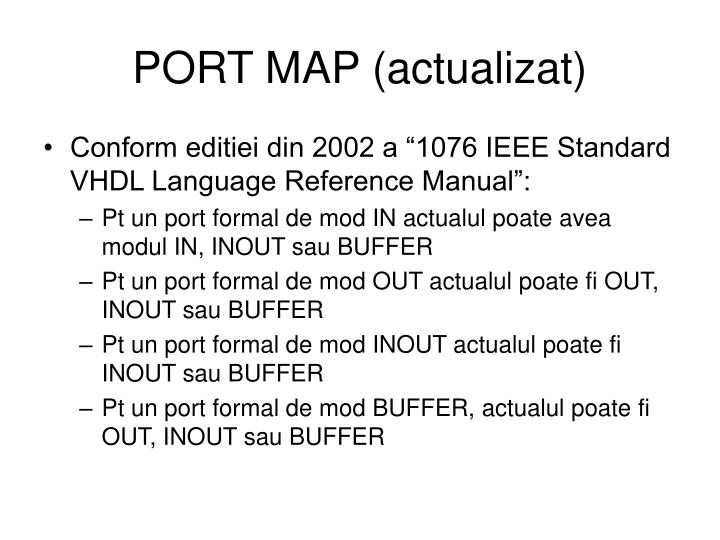 PORT MAP (actualizat)