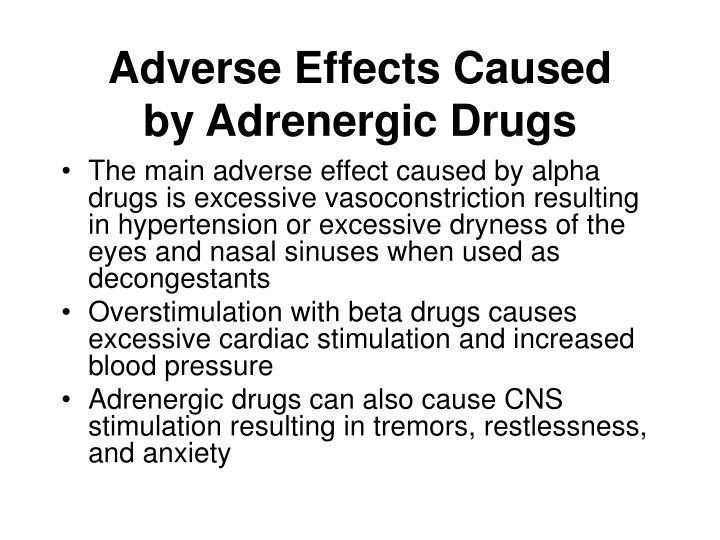Adverse Effects Caused