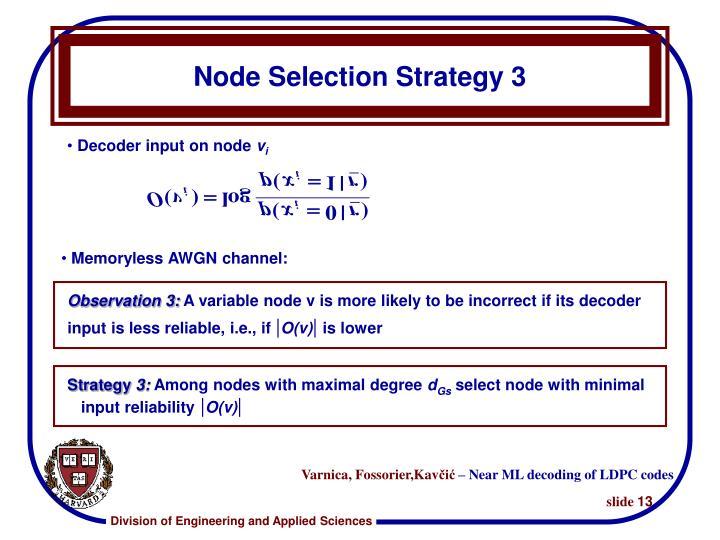 Node Selection Strategy 3