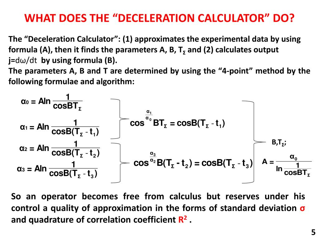 PPT - DECELERATION CALCULATOR PowerPoint Presentation - ID