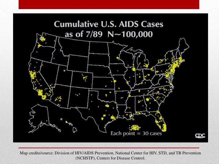 Map credits/source: Division of HIV/AIDS Prevention, National Center for HIV, STD, and TB Prevention (NCHSTP), Centers for Disease Control.