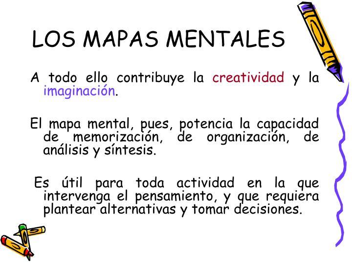 LOS MAPAS MENTALES