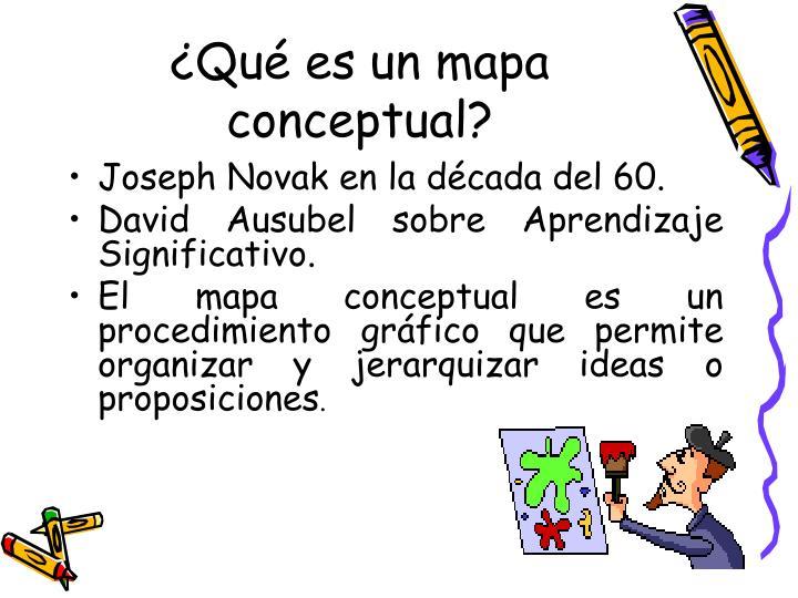 ¿Qué es un mapa conceptual?