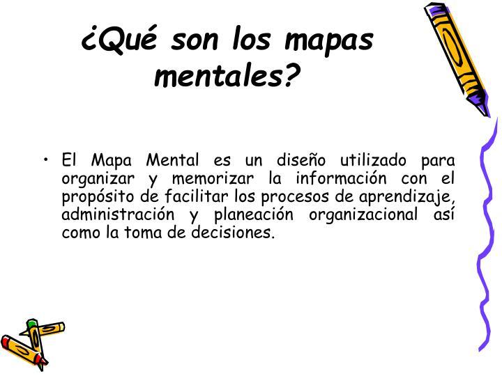 ¿Qué son los mapas mentales?