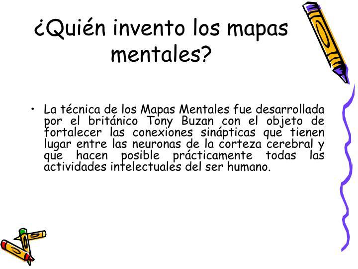 ¿Quién invento los mapas mentales?