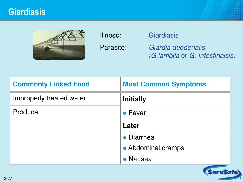 giardia duodenalis servsafe