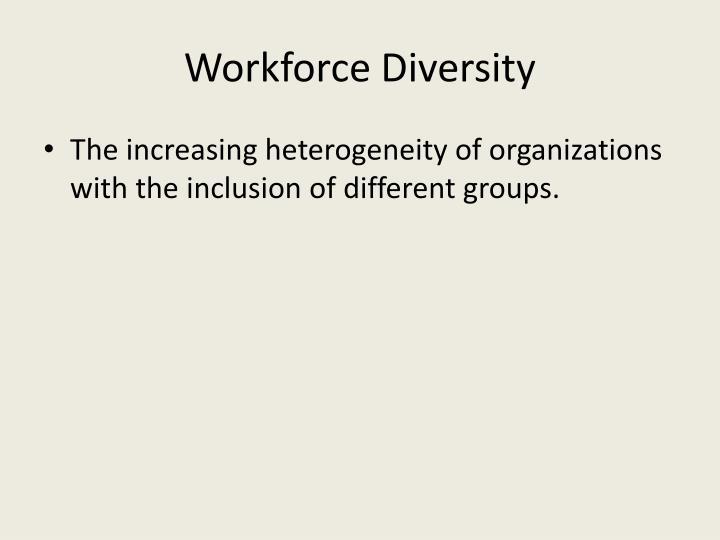Workforce Diversity