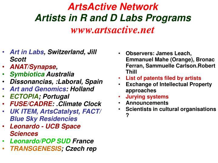 ArtsActive Network