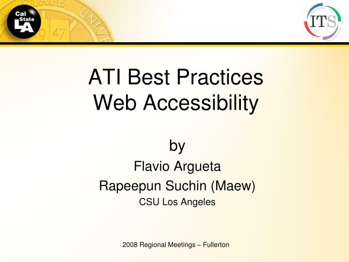 ati best practices web accessibility n.