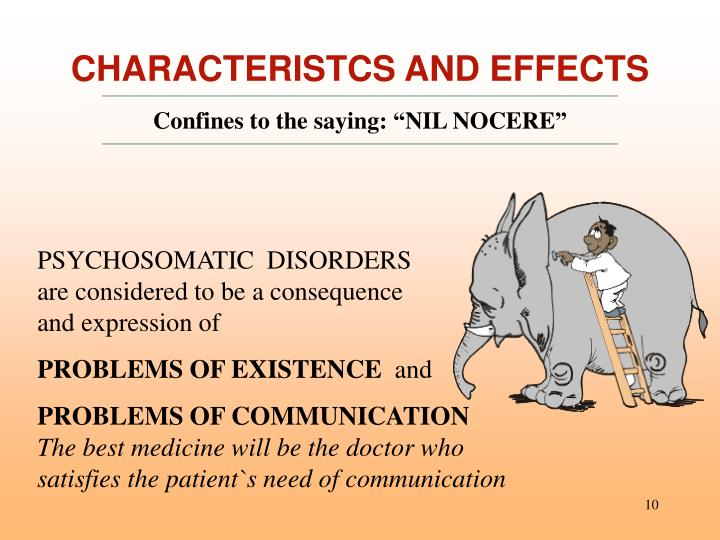 CHARACTERISTCS AND EFFECTS