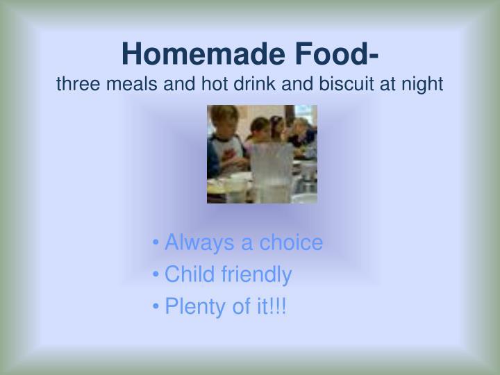 Homemade Food-