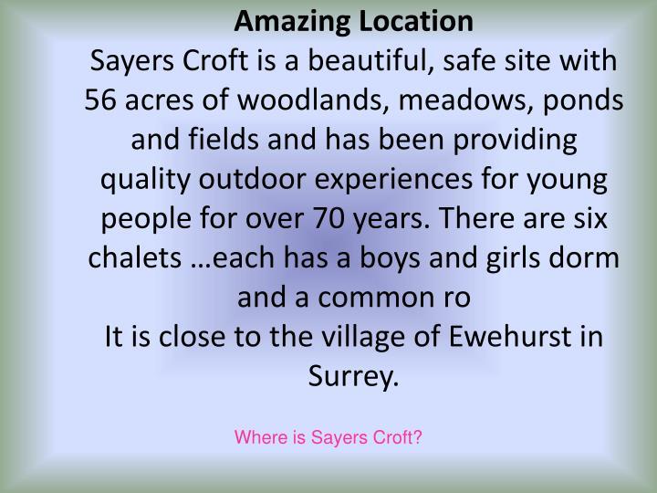 Where is sayers croft
