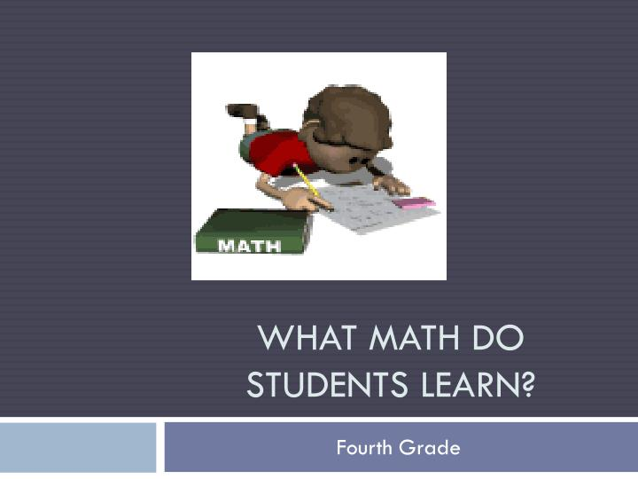 what math do students learn n.