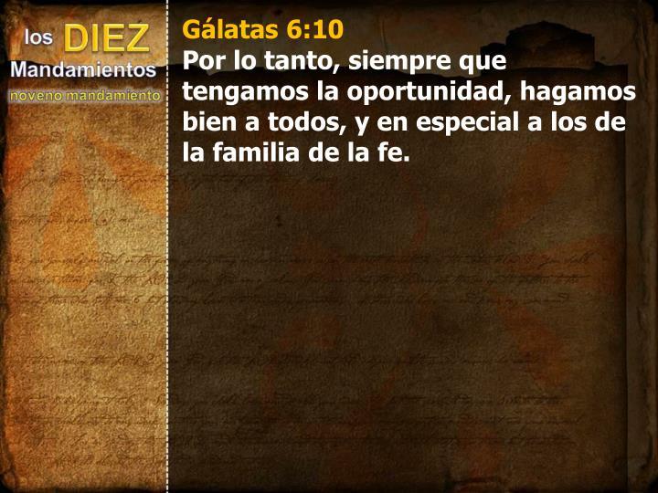 Gálatas 6:10