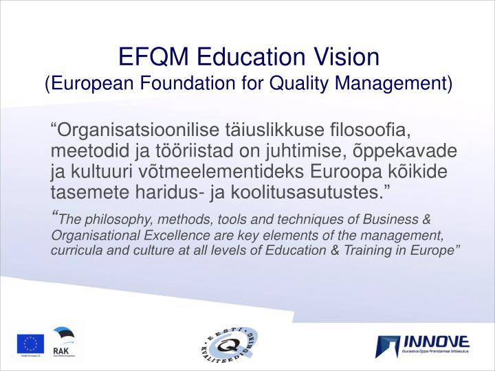 EFQM Education Vision
