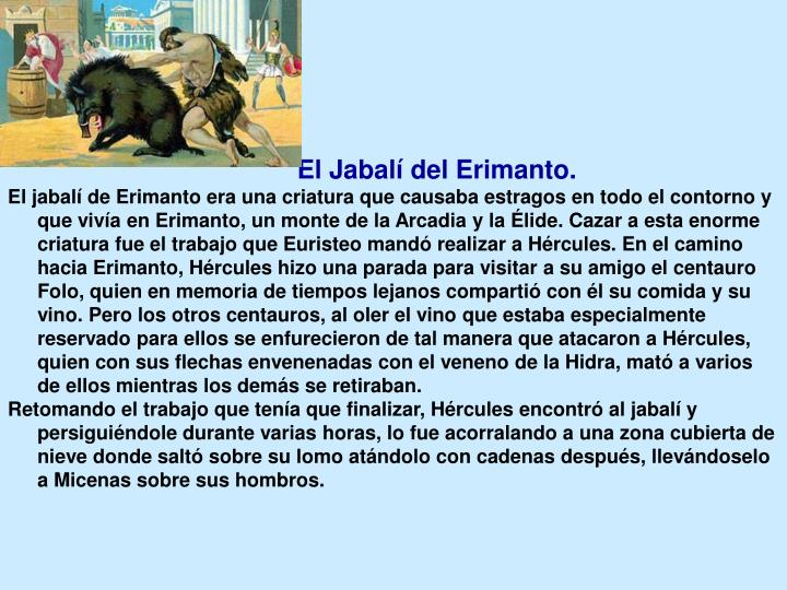 El Jabalí del Erimanto.