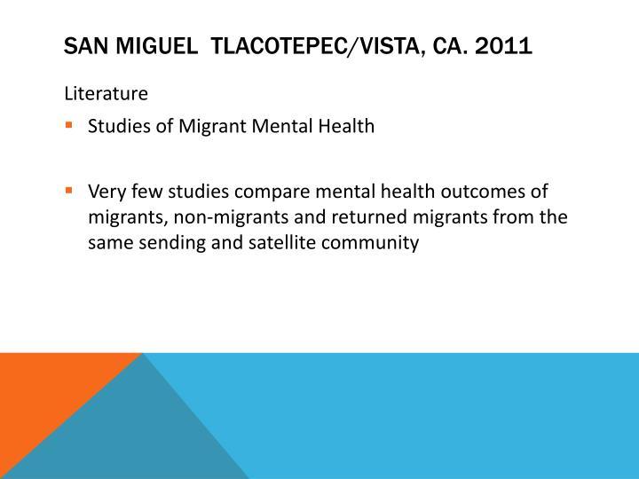 SAN MIGUEL  tlacotepec/vista, Ca. 2011