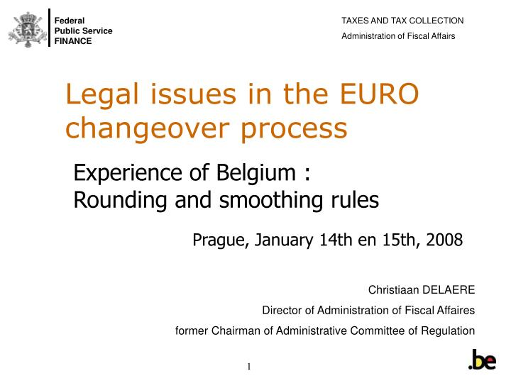 legal issues in the euro changeover process n.