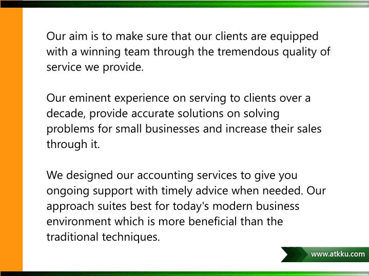 Our aim is to make sure that our clients are equipped with a winning team through the tremendous quality of service we provide.