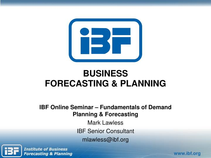business forecasting planning n.