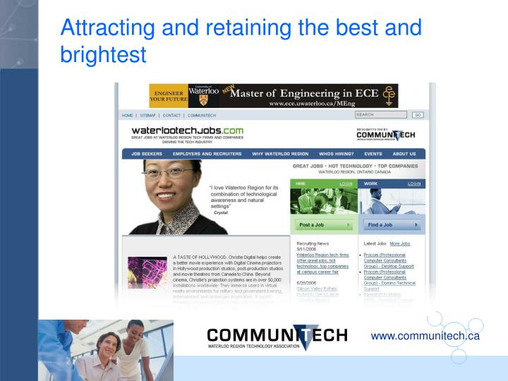 Attracting and retaining the best and brightest