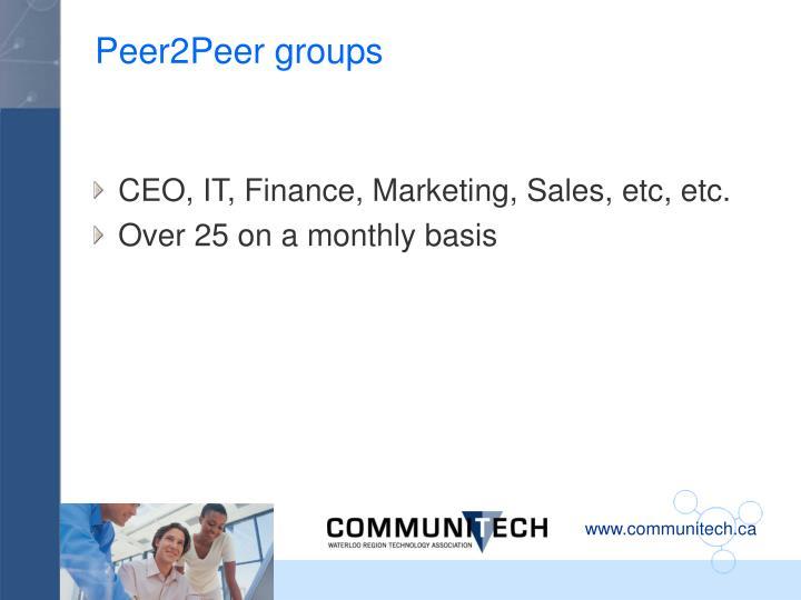 Peer2Peer groups