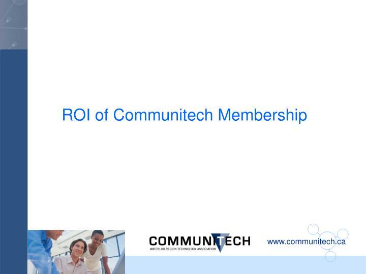 ROI of Communitech Membership