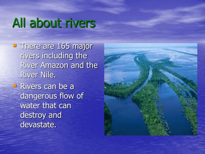 all about rivers n.