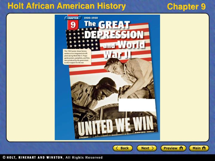 a history of the great depression and world war ii
