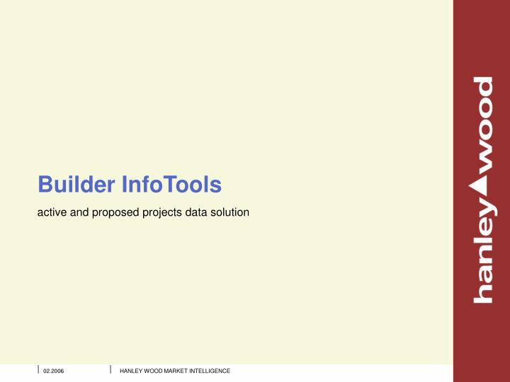 Builder InfoTools