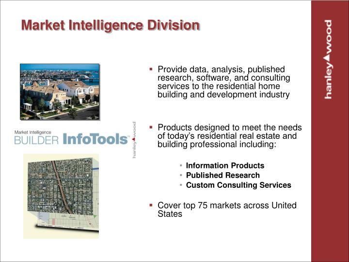 Market Intelligence Division