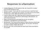 responses to urbanisation