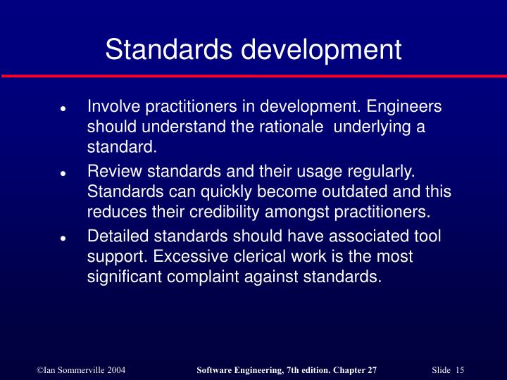 Standards development