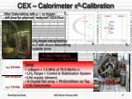 cex calorimeter 0 calibration
