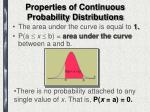 properties of continuous probability distributions