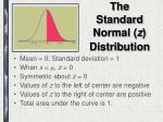 the standard normal z distribution