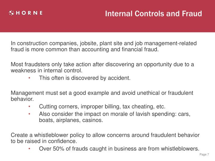 Internal Controls and Fraud