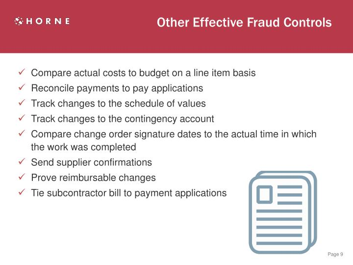 Other Effective Fraud Controls