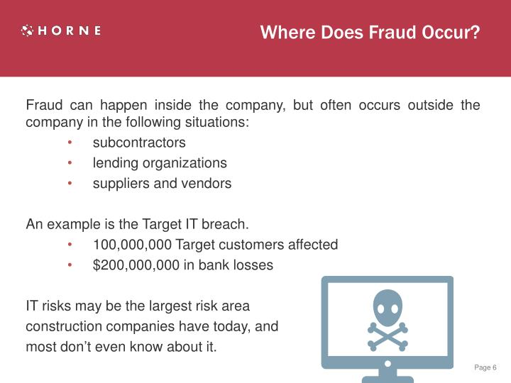 Where Does Fraud Occur?