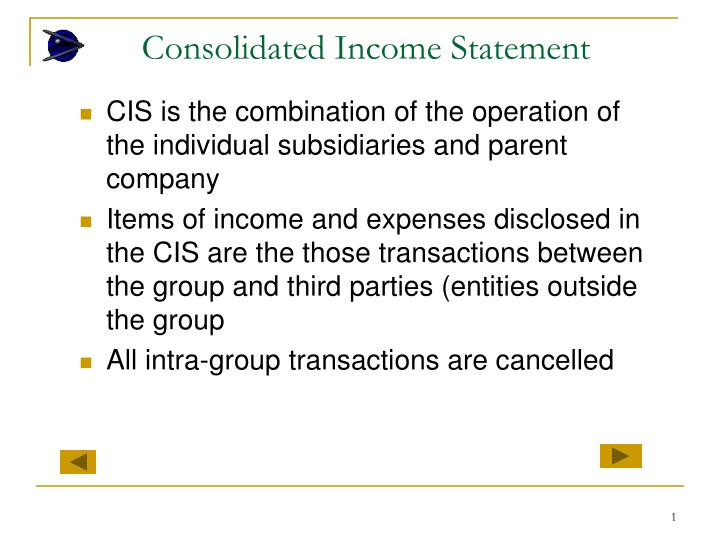 consolidated income statement n.