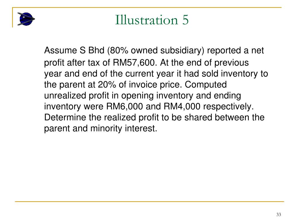 PPT - Consolidated Income Statement PowerPoint Presentation