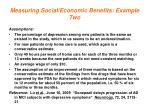 measuring social economic benefits example two2