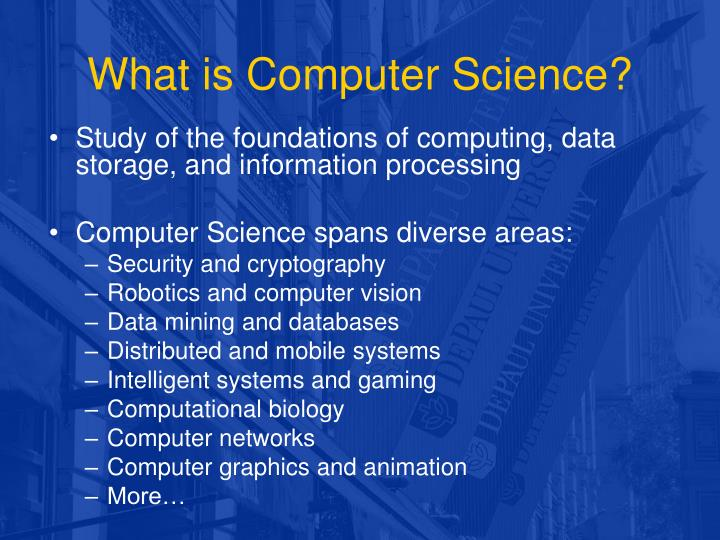 PPT - What is Computer Science? PowerPoint Presentation - ID:5995715